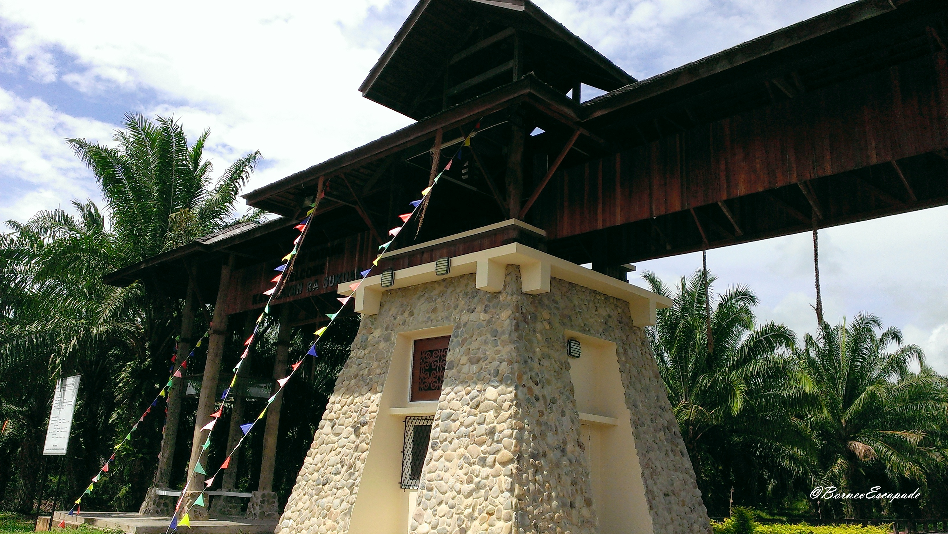 Entrance to the Sabah Murut Cultural Centre