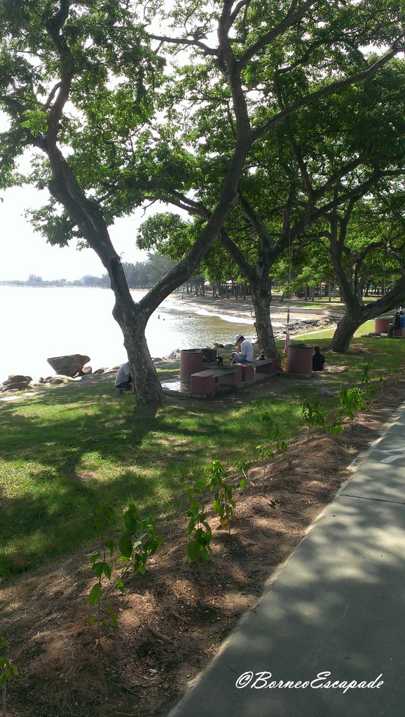 Good place for picnic. BBQ pit provided at the park too.