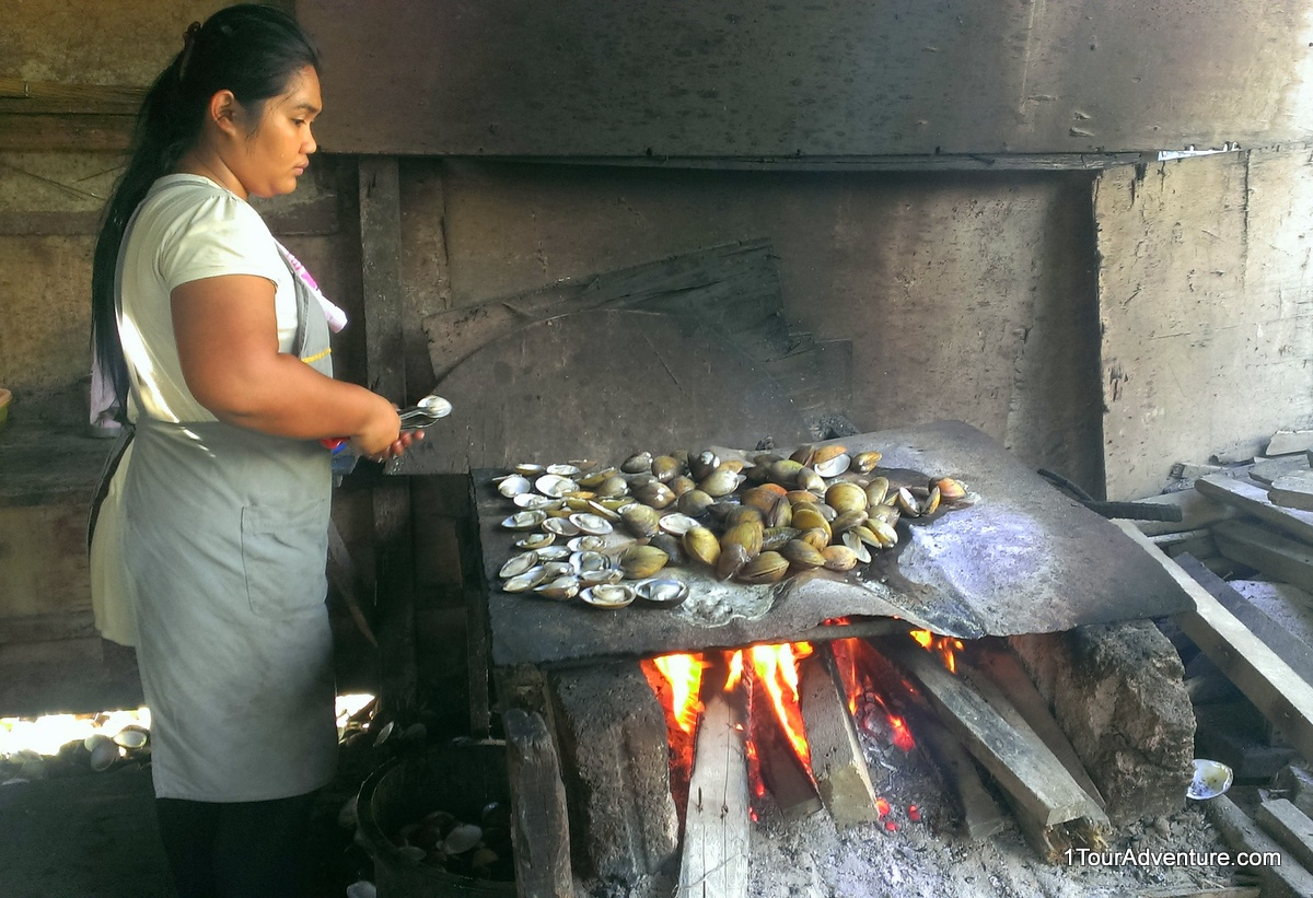 This is how the clams are grilled